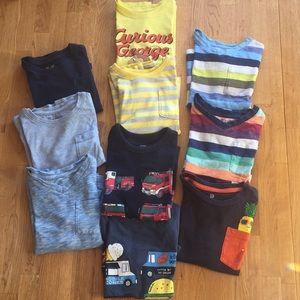 GAP 4t short sleeve shirt bundle boy